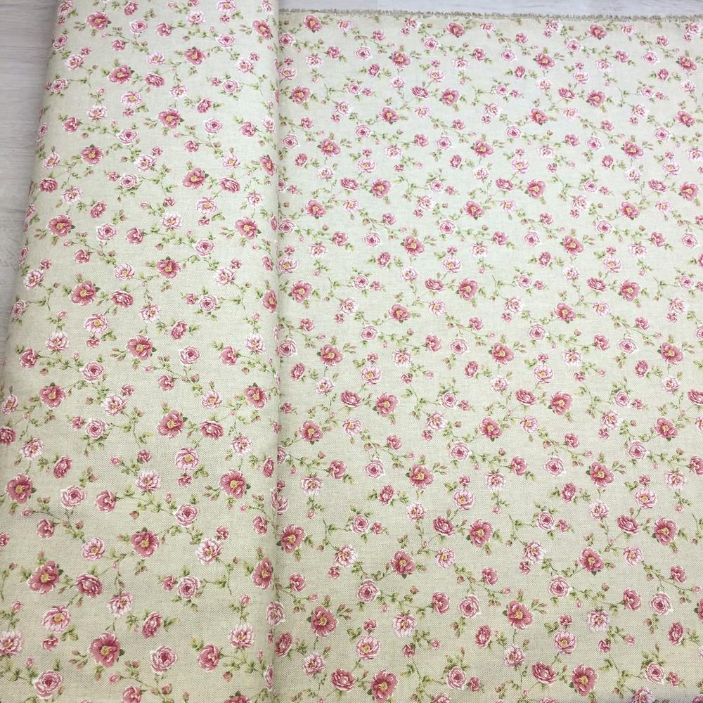 3cdc9b155e45 Režná látka vytieňované ruže maličké - Kvetinovelatky.sk - online ...