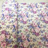 Vintage kvety vo fialovej dekoračná látka