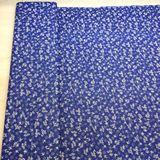 Modrotlač s malými kvetinkami bavlnená látka