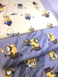 Mimoni na žltej Disney detská bavlnená látka