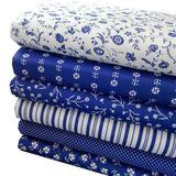 Biela s modrými pruhmi modrotlač česká bavlna