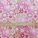 Ružová s mandalami bavlnená látka