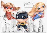Panel Batman girl 40cm x 30cm prémiová bavlna
