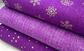 Fialovo zlatá Vianočná kolekcia