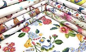 Jarné s výšivkou dekoračné látky