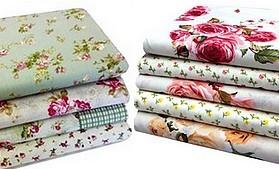 Kvetinové vzory dovozová bavlna