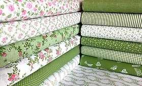 Zelená kolekcia drobný vzor