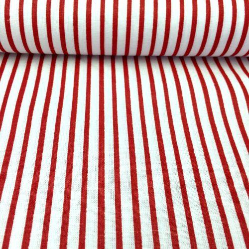 Červená s pruhmi francúzska bavlna