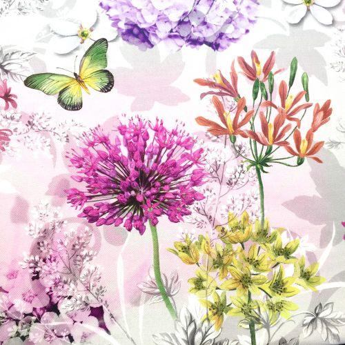 Motýle a kvetiny dekoračná látka