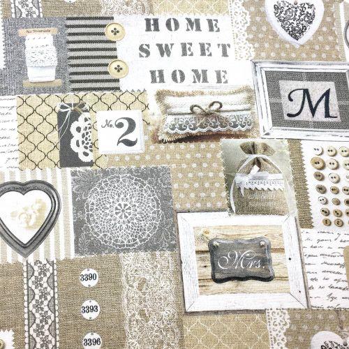 Home sweet home dekoračná látka