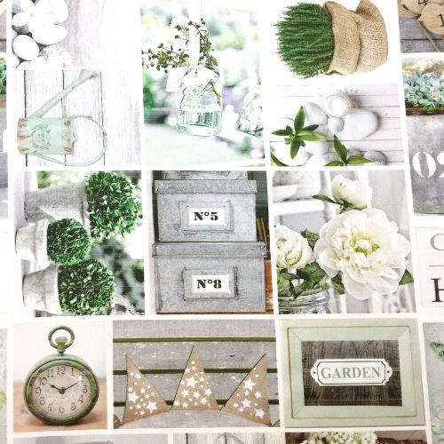 Jarná záhradná párty digitálna dekoračná látka