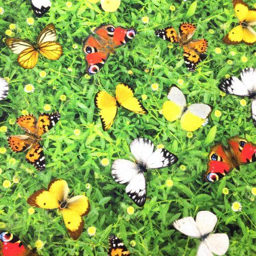 Motýlia lúka dekoračná látka