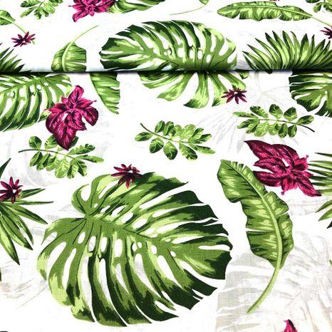Palmové listy bavlnená látka
