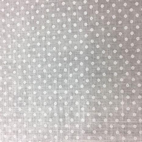 Biela na bielej bodky 2mm česká bavlna