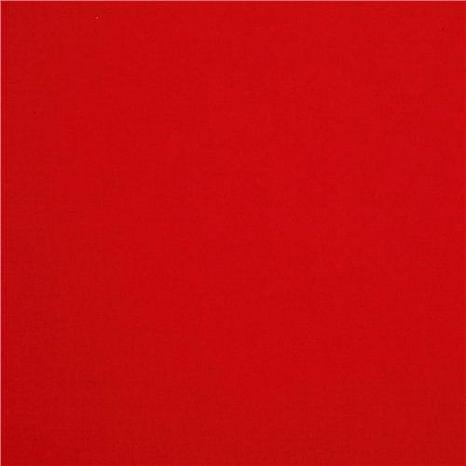 Červená jednofarebná bavlna