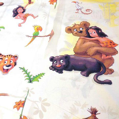 Kniha džunglí detská bavlnená látka