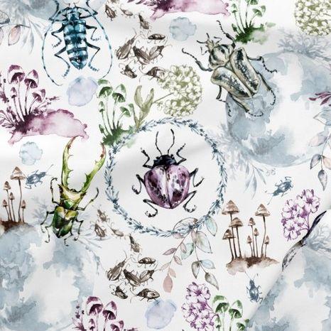 Chrobáčiky roháče dizajnová prémiová bavlna