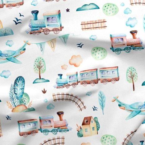 Vláčiky dizajnová prémiová bavlna