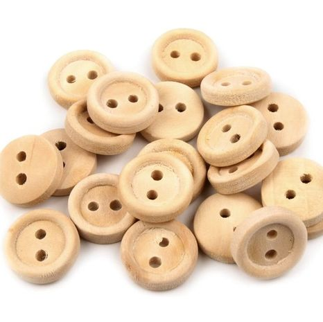 Drevené gombíky smotanové 10 kusov