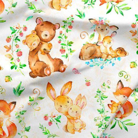 Roztomilé zvieratká dizajnová prémiová bavlna
