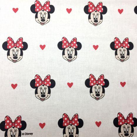 Mickey Minnie hlavy Disney detská bavlnená látka