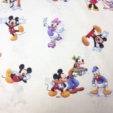 Mickey Mouse s kamarátmi Disney detská bavlnená látka