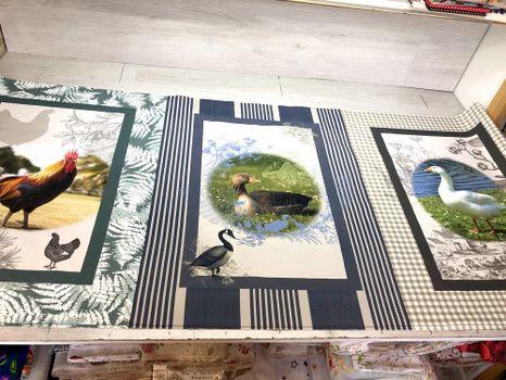 Panely na utierky na gazdovskom dvore sada 3x 50x70cm