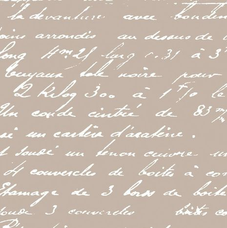 Písmo na béžovej bavlnená látka