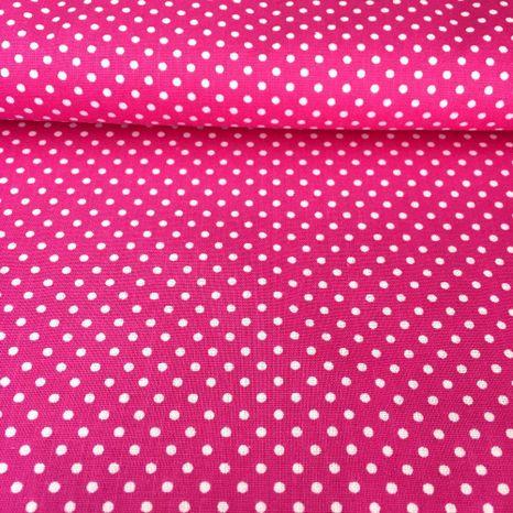 Ružová cyklámenová s bodkami 2mm bavlnená látka