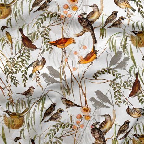 Svet vtákov dizajnová prémiová bavlna