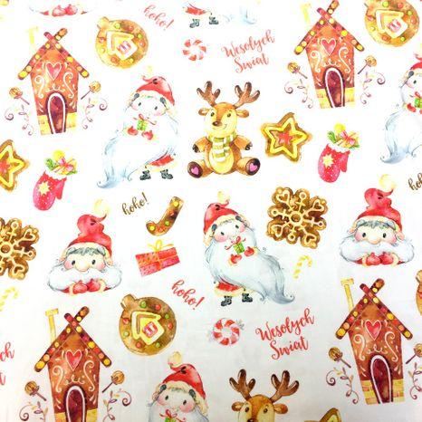 Vianočné perníčky dizajnová prémiová bavlna