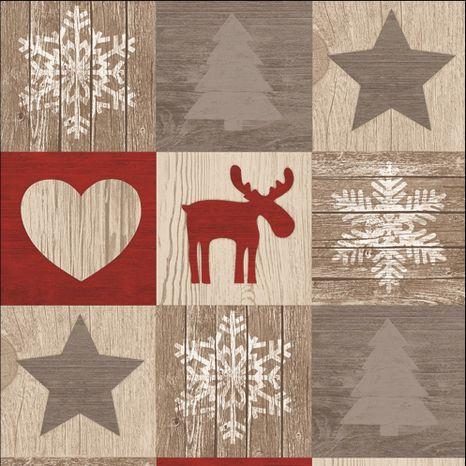 Vianočný patchwork dekoračná látka