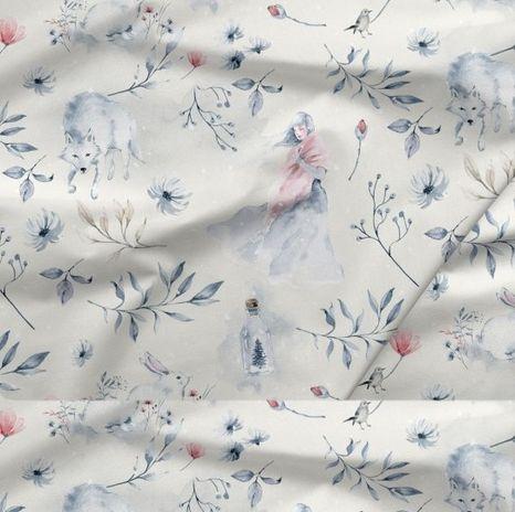 Víla s vlkom dizajnová prémiová bavlna