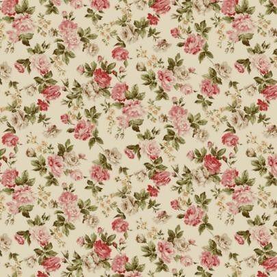 Vintage ruže starodávna bavlnená látka