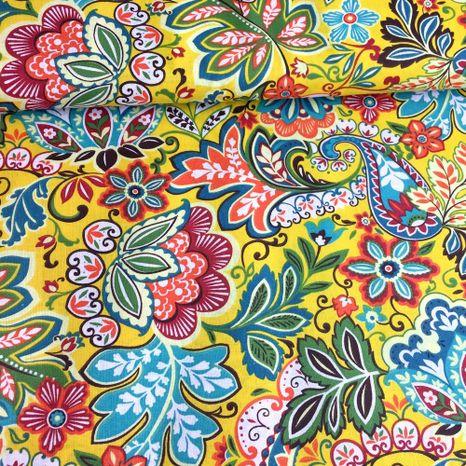 Kvetinová fantázia bavlnená látka