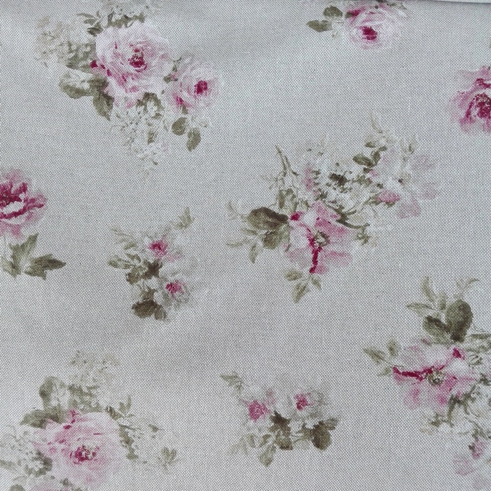 40b8a8b7a98d Režná látka s maľovanými ružami - Kvetinovelatky.sk - online obchod ...