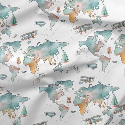 Svet cestovateľa dizajnová TEPLÁKOVINA
