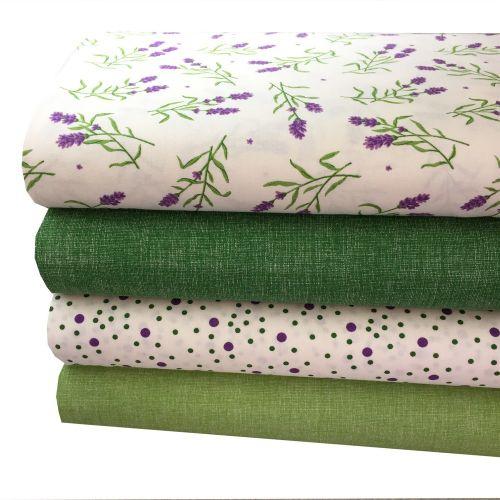 Svetlo zelená z levanduľovej kolekcie česká bavlna